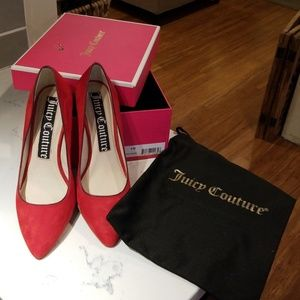 Juicy Couture Red suede pumps